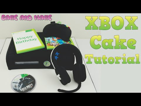 How to make an XBOX 360 Cake Tutorial. Bake and Make with Angela Capeski