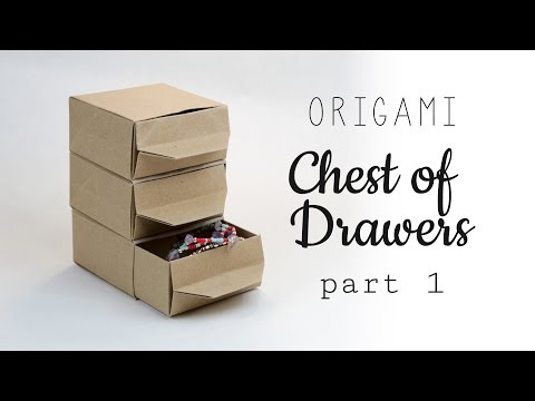 Origami Chest of Drawers Tutorial ♥︎ Part 1 - Shelf