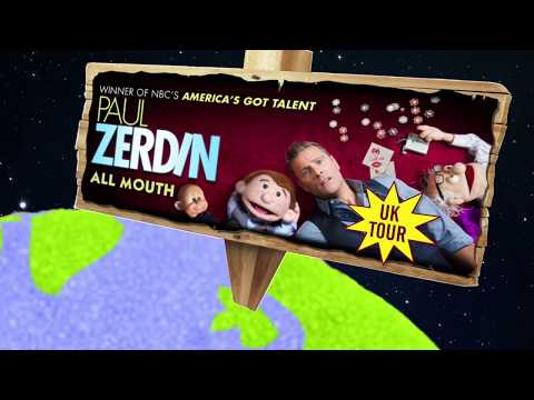 Paul Zerdin 'All Mouth' UK Tour 2017