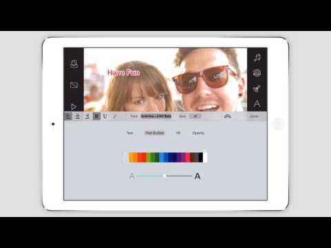 Write-on Video iPad Tutorial - Add Captions, Change Fonts and Colors