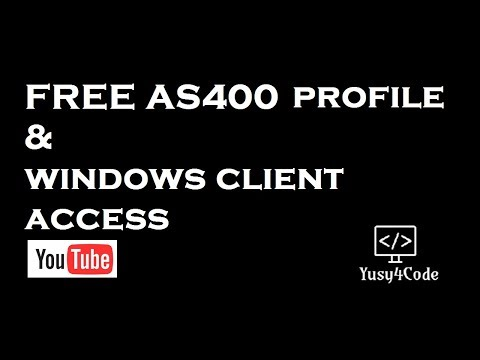 Get your free AS400 profile & windows client access