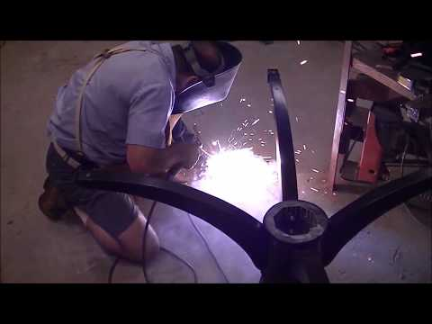 How to repair a pedestal table with duncan phyfe legs by Welding? Trick to make it stronger.
