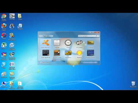 How to Put Calendar on your Window 7