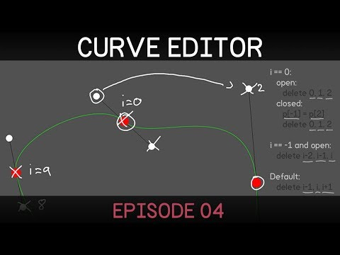 [Unity] 2D Curve Editor (E04: inserting and deleting points)