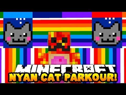 Minecraft NYAN CAT PARKOUR! (WE ARE NYAN CATS!!) | w/ PrestonPlayz & Lachlan