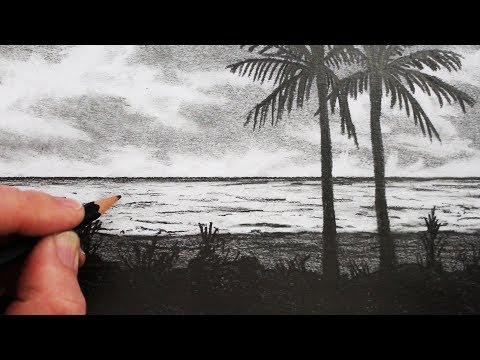 How to Draw a Beach: Pencil Drawing Step by Step