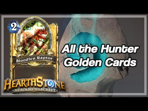 [Hearthstone] All the Hunter Golden Cards from Leveling