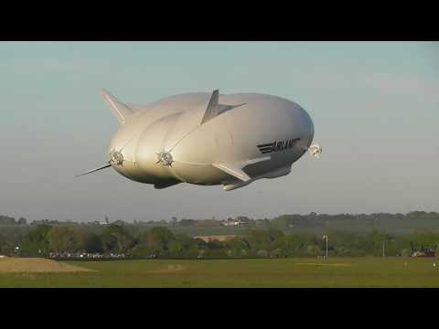 aviation Pilots abort 1st landing  New Airlander 10 Airship 1st ever flight Cardington Sheds   10May