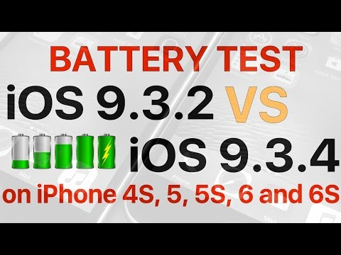 Battery test : How is battery life on iOS 9.3.4 compared to iOS 9.3.2??
