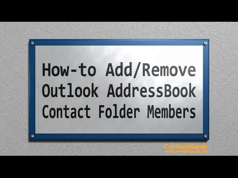 Adding Outlook AddressBook Contact folder members
