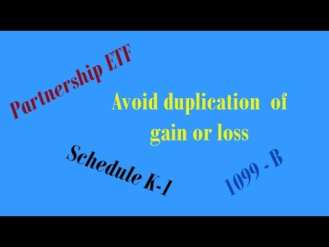 How to file Schedule K-1 to avoid duplication with 1099B for partnership ETF