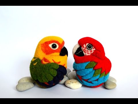 I needle felt different species of birds inspired by nature