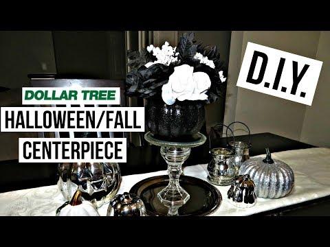 Dollar Tree DIY | PUMPKIN TABLE CENTERPIECE | Halloween/Fall Decor 2017