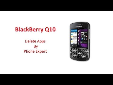 How to delete application - BlackBerry Q10