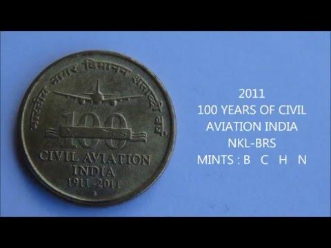 FIVE RUPEES - Regular commemorative coins