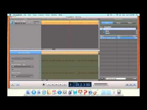 How to make a audio mashup in garageband on the mac