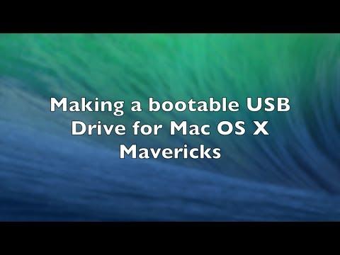 Making a bootable Mac OS X Mavericks USB Drive and installing Mac OS X using USB Drive