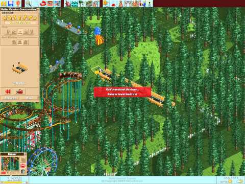 Let's play Rollercoaster Tycoon #113 (Crumbly Woods: Saved, by our coasters)