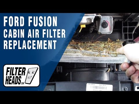 How to Replace Cabin Air Filter 2015 Ford Fusion