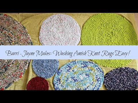 Washing your Amish Knot (Toothbrush) rag rugs  -  How-to Guide