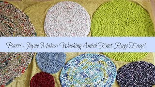 By Barri Jayne Makes Washing Your Amish Knot Toothbrush Rag Rugs How To Guide