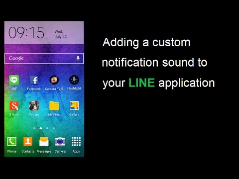 How to add or change a custom notification sound to LINE Application
