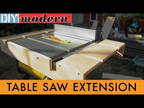 How to make a portable table saw extension for the DeWalt 7480