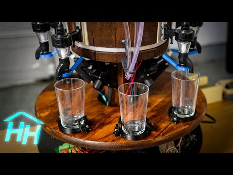 Building a Robotic Bartender - Part 6: Drive Motor and Cupholders