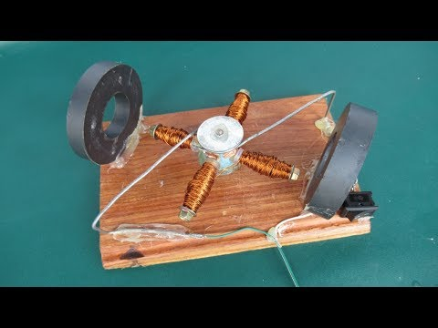 How to Make a Powerful 12V DC Motor with magnets - Homemade a powerful DC motor testing