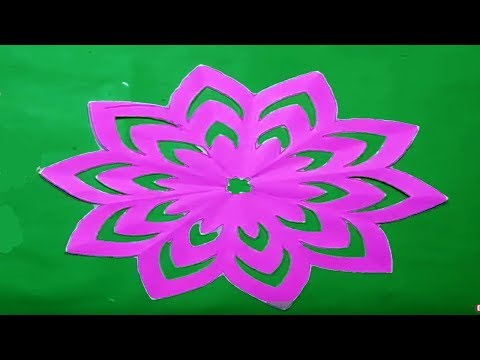 How to make simple & easy paper cutting flower designs? paper flower/DIY Instructions step by step.