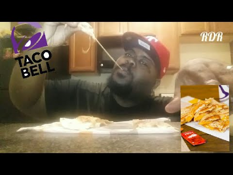 Taco Bell's NEW CRISPY CHICKEN Quesadillas Review!!!!