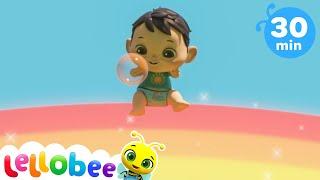 Learn Rainbow Colors   @Lellobee City Farm - Cartoons \u0026 Kids Songs   Preschool Education