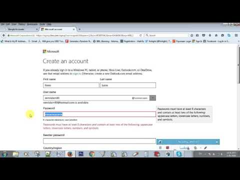 How to create Email free mail account in Gmail or Hotmail