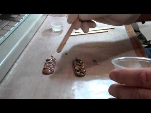 Natural Rocks in Pendants with Epoxy