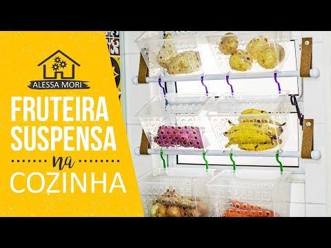 ⭐ FRUTEIRA SUSPENSA NA JANELA DA COZINHA | DIY PARA OTIMIZAR ESPAÇO