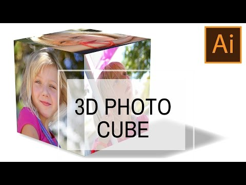 Create a 3D Photo Cube in Illustrator - Harness the Power of 3D