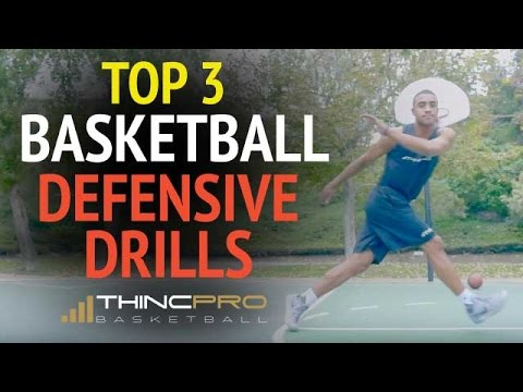 Top 3 BASKETBALL DEFENSIVE DRILLS - How to Improve Quickness for Basketball Defense