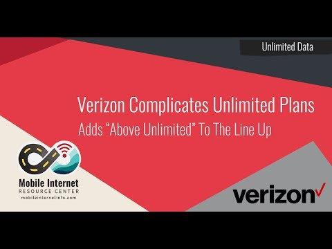 Verizon's New 'Above Unlimited' Plan - 20GB of Hotspot, 75GB Network Management