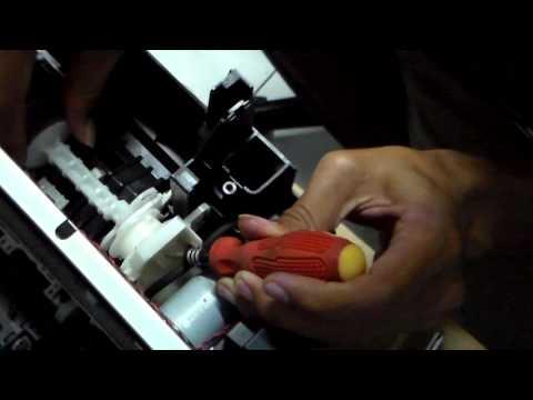 Membongkar part Epson L210 [part 3] Bagian Roller Atas