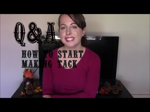 Q&A video. How to get started making custom horse tack/leatherworking. Winner announced!