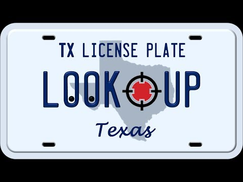 How to Reverse Search a Texas License Plate Number