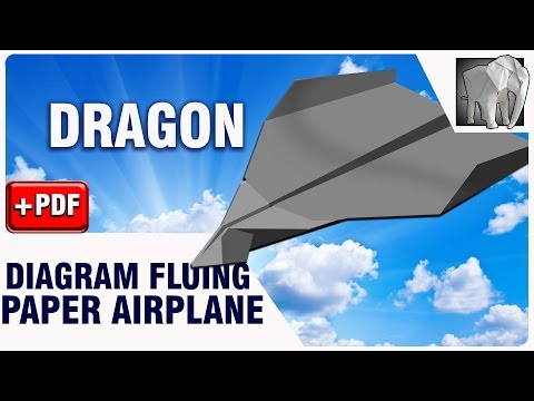 How to make Paper Plane Flying DRAGON | Diagram (PDF)