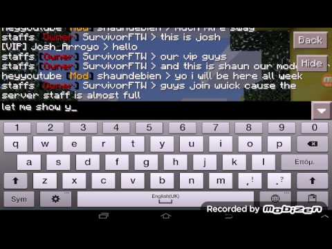 My 0.12.1 MCPE server review Need staff