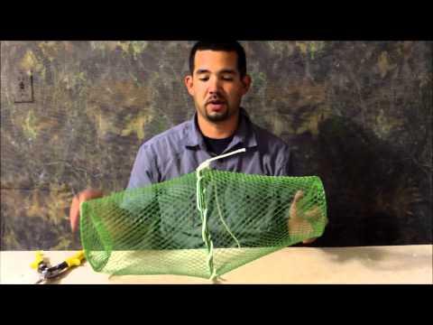 DIY bait fish trap.  Building a bait fish trap for $2