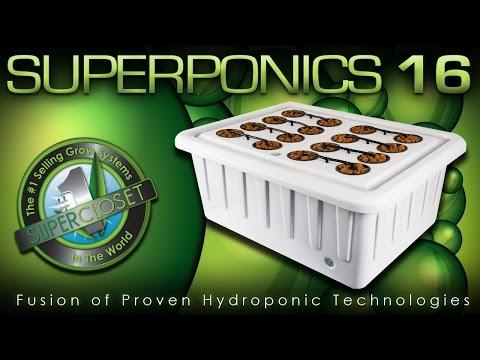 SuperPonics 16 - Best Hydroponic Indoor Grow System