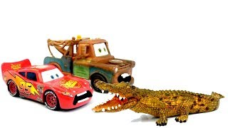 Lightning McQueen & Mater Learn Farm & Wild Animals Sounds For Children, Best Way To Learn For Kids
