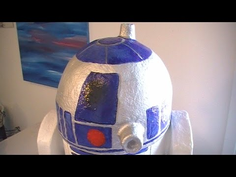 How to Make a Cool R2D2 with Recycables and Paper Mache