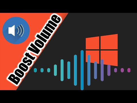 How to Increase the Volume of your laptop's Speakers on Windows 8/10
