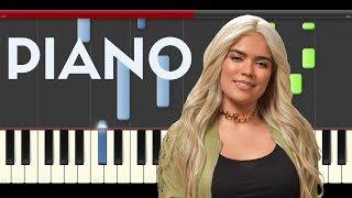 Karol G Mau y Ricky Mi Mala Piano Midi tutorial Sheet app Cover Karaoke