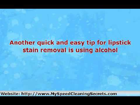 The Easy Guide to Lipstick Stain Removal